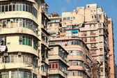 Ancien immeuble d'habitation à hong kong — Photo