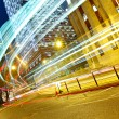 Light trails in modern city — Stock Photo #7713447