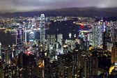 Wgląd nocy z hong kongu — Zdjęcie stockowe