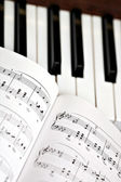 Piano and lyrics book — Stock Photo