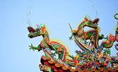 Asian temple dragon — Stock Photo