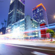 Taipei City Street at Night — Stock Photo