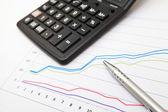 Financiële grafiek — Stockfoto