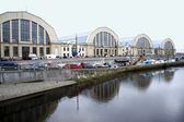 Riga. A kind on pavilions of the central market. — Stock Photo