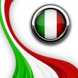 Italian flag. — Stockvector
