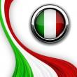 bandera italiana — Vector de stock