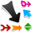 Color arrows sticker set. — Stock vektor