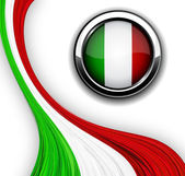 Italian flag. — Stock Vector