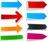 Color arrows sticker set. — Stock Vector