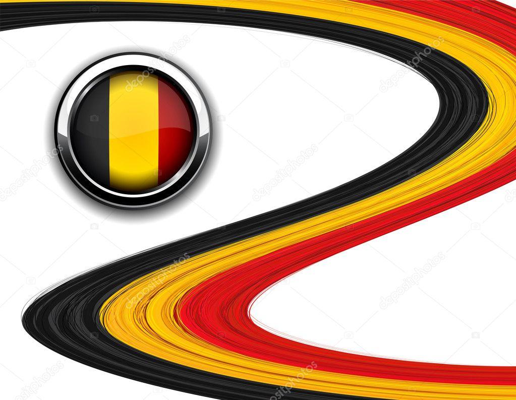 比利时国旗矢量插画