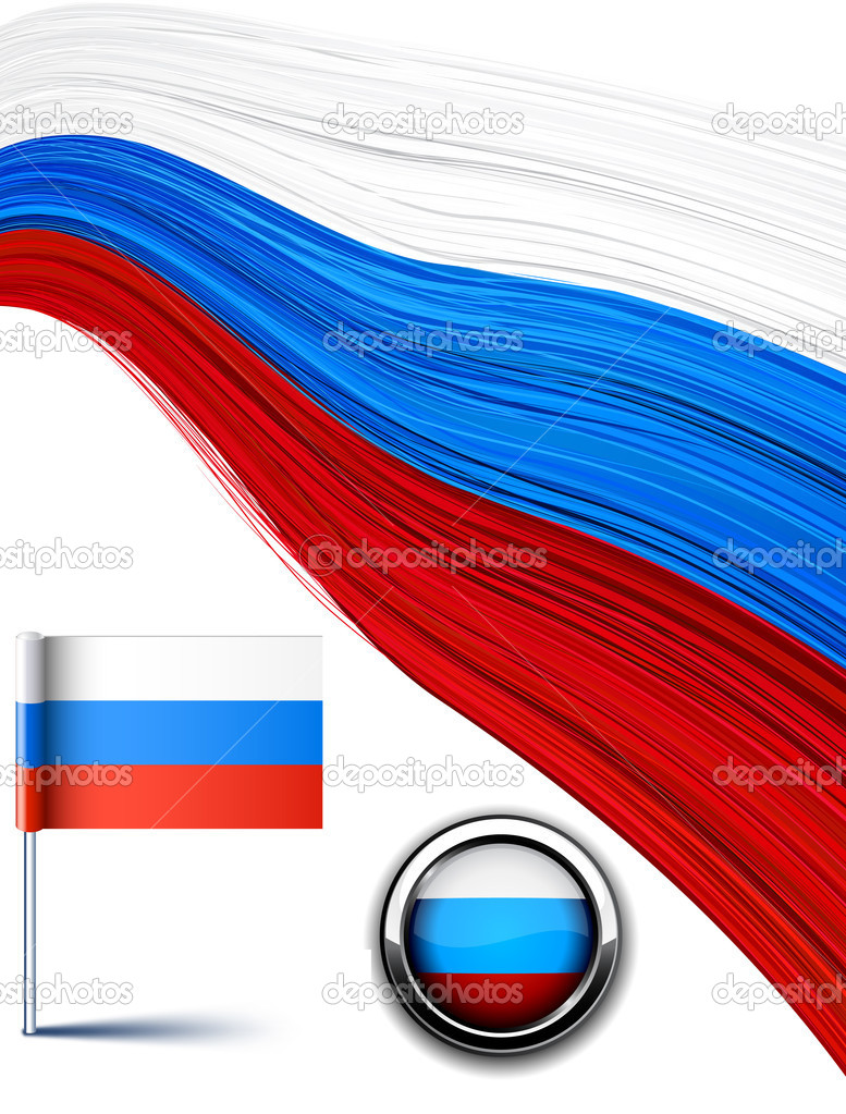 Vector illustration of national russian flag. — Stock Vector #6941432