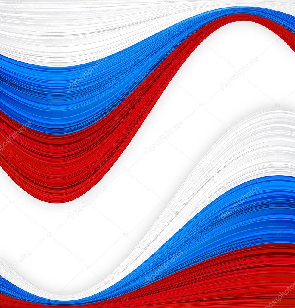俄罗斯国旗矢量插画