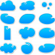 Stock Vector: Cloudscape notification blue shapes.
