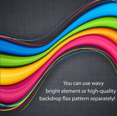 Colores de fondo sobre lino. — Vector de stock