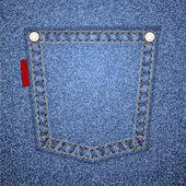 Bolso jeans com tag. — Vetor de Stock