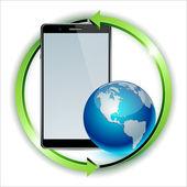 World distribution smartphone concept. — Stock Vector