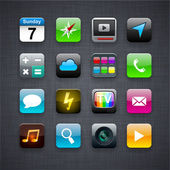 Iconos app cuadrado moderno. — Vector de stock