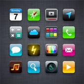čtvercové moderní aplikací ikony. — Stock vektor