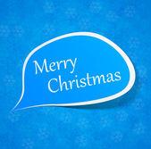 Vánoční papír projev popisek. — Stock vektor