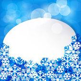 Etiqueta de papel blanco de navidad. — Vector de stock
