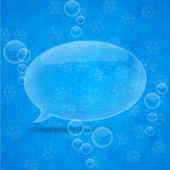 Christmas speech bubble. — Stock Vector