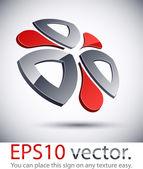 3D modern logo icon. — Stock Vector