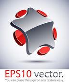 3D modern star logo icon. — Stock Vector
