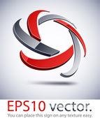 3d modern yıldız logo simge. — Stok Vektör
