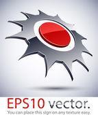 3D modern logo sun icon. — Stock Vector