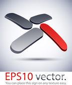 """3D modern """"X"""" logo icon. — Stock Vector"""