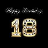 Happy Birthday 18th — Stock Vector