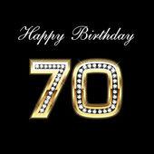 Happy Birthday 70th — Stock Vector
