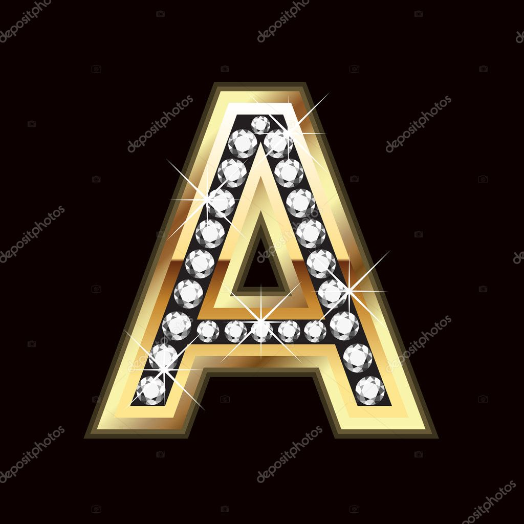 A Bling Gold  Stock Vector #7856759