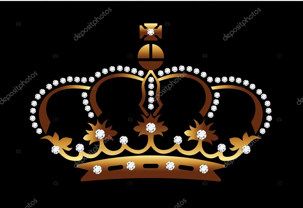 Crown Gold Diamond — Stock Vector #7884097