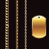 Gold Chain — Stock Vector