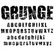 Grunge alphabet - 1 - Stock Vector