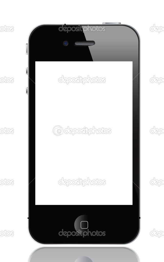 Illustration of iphone 4, vector format.   Stock Vector #7475926