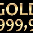 Stock Photo: Gold 999.9