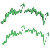 Stock index, upward. — Stock Vector