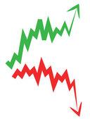 Stock market index arrow — Stock Vector