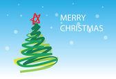 рождественская елка-1 6 рождественская открытка — Cтоковый вектор