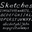 Chalk sketch alphabet — Stockvector #7856591