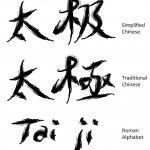 Постер, плакат: Tai ji chinese characters