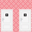 Toilet doors — Stock Vector