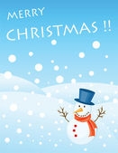 Christmas greetings card — Stock Vector