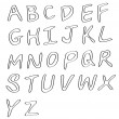 Handwritten alphabets — Vector de stock #7864629