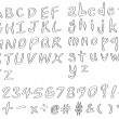 Handwritting fonts — Stok Vektör #7864633