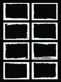 Grunge borders or frames — Stock Vector
