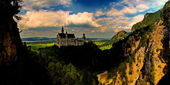 Neuschwanstein is the castle of King Ludwig — Stock Photo