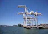 Oakland liman içinde kargo vinçler — Stok fotoğraf